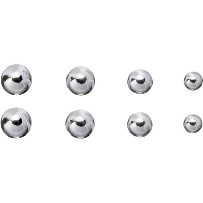 1f078a03f Argos Product Support for Revere Sterling Silver Ball Stud Earrings - Set  of 4 (208/3843)
