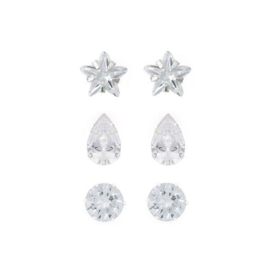 cf77c5539 Argos Product Support for Revere Sterling Silver Cubic Zirconia Set of 3  Stud Earrings (212/4661)